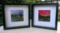 Needle felt paintings framed https://www.facebook.com/LynetteSherrardDesign