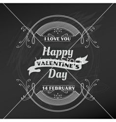 Valentines day card vector - by woodhouse84 on VectorStock®