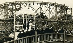 It's June, and what better place to hold a June wedding than next to a roller coaster? Rock Springs Park, Chester, WV, early 20th century.