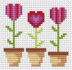 Fat Cat Cross Stitch - Love Grows cross stitch kit