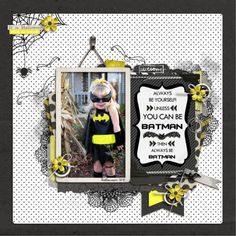 Be Batman - Digital Scrapbooking Ideas - DesignerDigitals