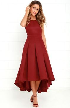 Tea Length Hi Low Dress – Red for the Holidays 2019 dress wedding dress wedding bridesmaid dress wedding gown dress wedding guest dress wedding outfits Hi Low Dresses, Grad Dresses, Trendy Dresses, Formal Dresses, Hi Low Bridesmaid Dresses, Club Dresses, Lulu's Dresses, Red High Low Dress, High Low Skirt
