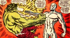 The Hulk vs The Silver Surfer by Marie Severin