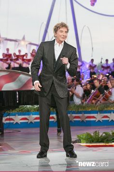 Barry Manilow performs at A Capitol Fourth 2015 Independence Day Concert dress rehearsals on July 3, 2015 in Washington, DC. (Photo by Teresa Kroeger/WireImage)
