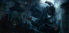 ACS : Jack the Ripper // 360° video artworks, Morgan Yon on ArtStation at https://www.artstation.com/artwork/D9NEe