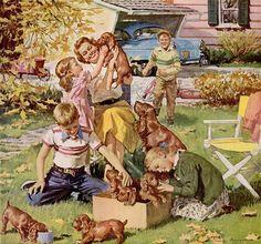 Friskies dog food 1955