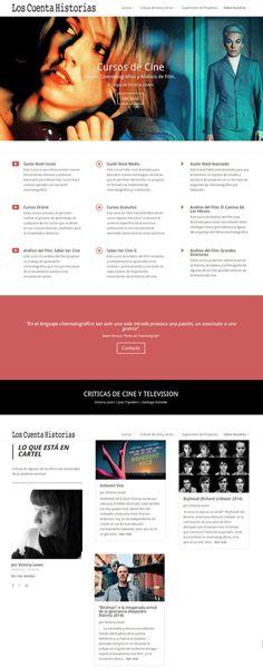 Cursos de guión y críticas de cine.  Sitio armado con Wordpress