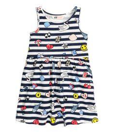 Ärmelloses Jerseykleid | Dunkelblau/Gestreift | Kinder | H&M DE