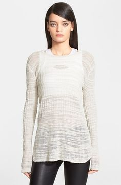 Helmut Lang 'Eroded Threads' Sweater available at #Nordstrom