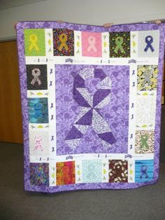 American Cancer Society Quilt.......if we only could make one of these!!