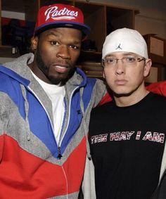 50 cent & Eminem Rap Songs, Rap Music, Good Music, Hip Hop Artists, Music Artists, 50 Cent And Eminem, Rhymes Lyrics, Shady Records, Eminem Rap