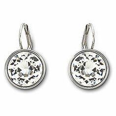 Bella Crystal Pierced Earrings from #swarovski complement a classic #wedding look