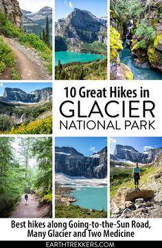 Best hikes in Glacier National Park: Highline Trail, Grinnell Glacier, Hidden Lake, Avalanche Lake, Cracker Lake, Iceberg Lake and more. Includes hikes in Many Glacier and Two Medicine. #glacier #nationalpark #hiking