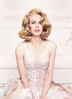"Australian actress Nicole Kidman, Vanity Fair, December 2013. She appears in character as Princess Grace from ""Grace of Monaco"". Photograph by Patrick Demarchelier"