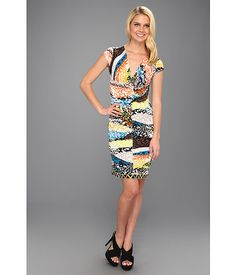 BCBGMAXAZRIA Laila Twist Front Wrap Dress