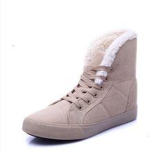 76ace4fee9e Dámské zimní zateplené boty s kožíškem BÉŽOVÉ – SLEVA 70% a POŠTOVÉ ZDARMA  Na tento produkt se vztahuje nejen zajímavá sleva
