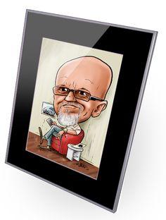 Lahjaksi hauska ja persoonallinen karikatyyri. Caricature is great gift idea for 50th or 60th birthday. #caricature #giftidea #gift #birthdaygift