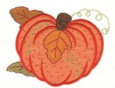 Pumpkin Applique - 2 Sizes! | Halloween | Machine Embroidery Designs | SWAKembroidery.com Designs by Juju