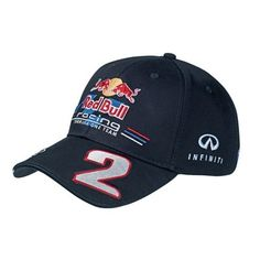 Official Red Bull Racing Merchandise for the 2012 Formula 1 season.    Mark Webber 2012 Driver Cap    Mark Webber's driver cap is made from cotton and features high quality embroidered Red Bull team and sponsor logos at the front, sides and back. There is an embroidered Mark Webber signature on the peak with his name also printed at the edge of the peak.