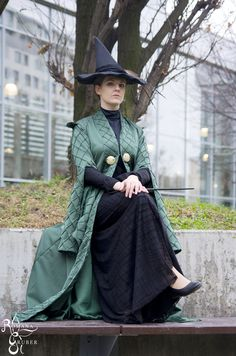 McGonagall cosplayed by Dragon_Soul Cosplay  Find her here: https://www.facebook.com/DragonSoulCosplay/  Credit for the photo goes to Romana Gruber Photography. They can be found here: https://www.facebook.com/RomanaGruberPhotography/?fref=ts