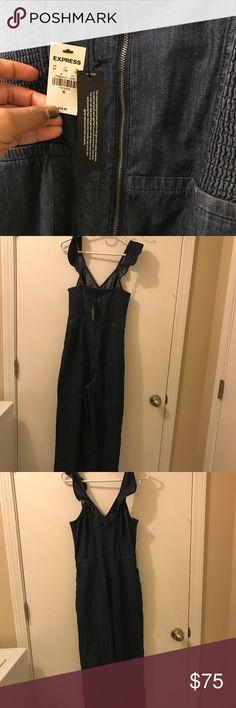Denim jumpsuit New Express jumpsuit .. never worn Express Other