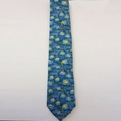 Tie Artist Collection – Monet blue Water lilies