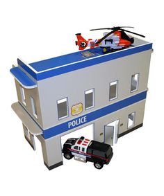 Love this Paper Board Police Station on #zulily! #zulilyfinds, FunDeco Products!