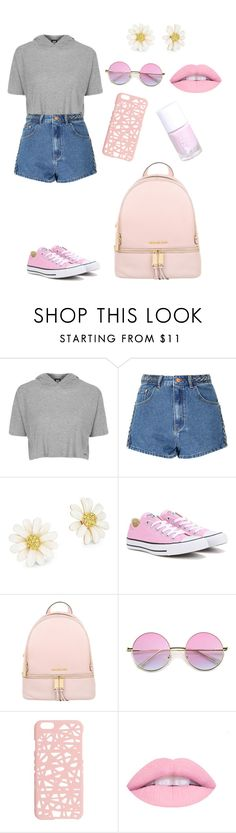 """""""Pastel Pink """" by roxyrose725 ❤ liked on Polyvore featuring Topshop, Glamorous, Kate Spade, Converse, Michael Kors, ZeroUV and Miss Selfridge"""