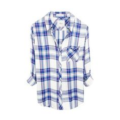 Hunter Plaid Shirt ($50) ❤ liked on Polyvore featuring tops, plaid top, tartan top, button up shirts, plaid button up shirts and button down top