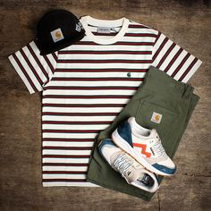 An Urban Industry Flat Lay, Grid Mens Wear outfit featuring Carhartt WIP Karhu Shoes. Check the ranges out over at Urban Industry. Hype Clothing, Mens Clothing Styles, Stylish Mens Outfits, Casual Outfits, Estilo Tomboy, Outfits Hombre, Vetement Fashion, Clothing Photography, Outfit Grid