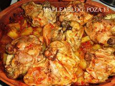 Pečena piletina sa povrćem - Ljubica R. Baked Chicken With Vegetables, Roasted Vegetables, My Favorite Food, Favorite Recipes, Serbian Recipes, Serbian Food, Chicken Recepies, Macedonian Food, Food Tags