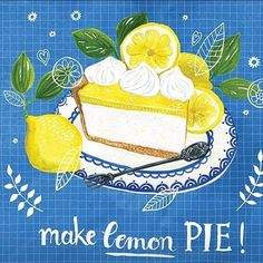 WEBSTA @ theydrawandcook - By the uber creative @miriambos_ !!! And a round of applause for the recent news that she is now being represented by the fabulous @jennifer_nelson_artists ! #illustrated pie #sweettooth #awesomeartist