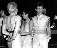 ROYAL Photo of Bianca JAGGER, Angie BOWIE and David BOWIE