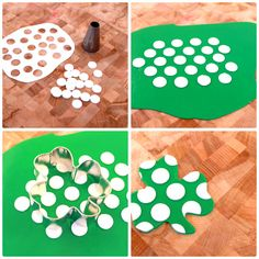 How to Make Glitter Polka Dot Fondant Shamrocks