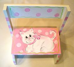 orders for this item placed after NOV 23 will not ship until LATE JANUARY 2015 This flip style step stool is hand painted with a soft and sweet
