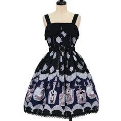 アリスのティアボトル柄ハートベルトジャンパースカート | ALICE and the PIRATES | Jumper Skirt | w-14525 | Wunderwelt Online Shop - Gothic & Lolita Second-hand Clothing
