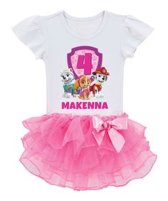 Look at this PAW Patrol Birthday Pups Personalized Tutu Tee - Toddler & Girls on #zulily today!