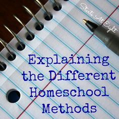 Different Homeschool Methods - Did you know there is more than one way to homeschool? Find out about the various types of homeschooling.