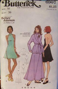 Betsey Johnson sewing pattern 1970s