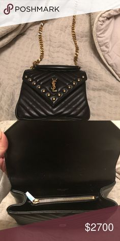 YSL Crossbody Handbag Only used once! This bag is not made anymore with  studs! a07b1fc655ad9