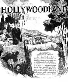 Advertisement for the Hollywoodland housing development in 1923.