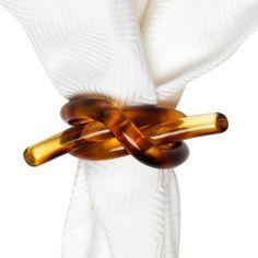 Tortoise Knot Napkin Ring http://domino.com/juliska-tortoise-knot-napkin-ring/lr2497
