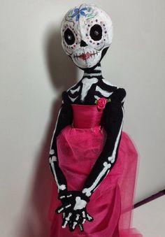 Day of the Dead cloth doll from ClothDollDesigns.com