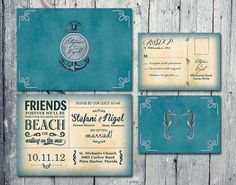 Digital  Printable Files  Doublesided  by WeddingSundaeShop, $25.00