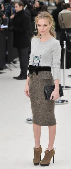 Twitt Twooo - Kate Bosworth in Burberry Fall 2012 {such love for this outfit}