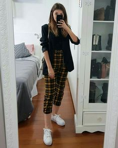 137 black and white outfits make you fashionable - Business Outfits for Work Casual Work Outfits, Business Casual Outfits, Grunge Outfits, Retro Outfits, Mode Outfits, Trendy Outfits, Fall Outfits, Summer Outfits, Fashionable Outfits