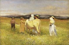 "Louis Comfort Tiffany's painting, ""My Family at Sommesville,"
