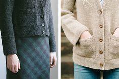 Uniform cardigan — one pattern, many ways to knit it