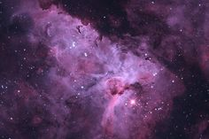 The hypergiant star Eta Carina caught against a background of clouds and dust that form the Carina Nebula