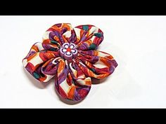Flor FACIL de tela. Fabric flowers. - YouTube